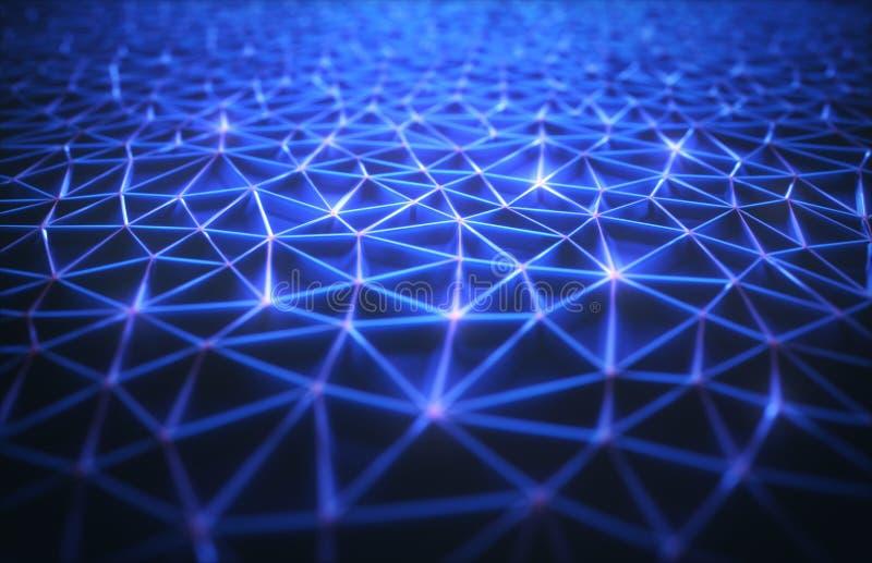 Abstrakcjonistyczny tło technologii związek royalty ilustracja