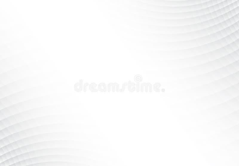 Abstrakcjonistyczny tło textured popielatego i białego kwadrata wzoru połówka ilustracja wektor