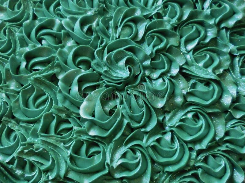 Abstrakcjonistyczny tło: Tiffany różyczki torta Błękitny lodowacenie obrazy royalty free