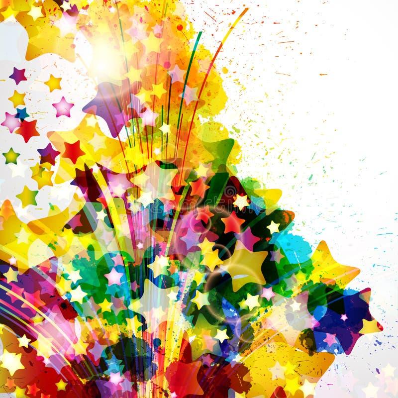 Abstrakcjonistyczny tło tworzy akwareli farby pluśnięciami ilustracji