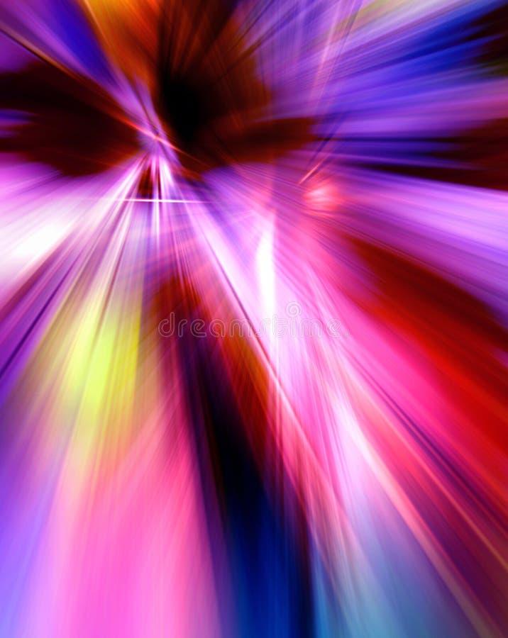 Abstrakcjonistyczny tło w czerwieni, purpurach, menchiach i błękitów kolorach, zdjęcie royalty free