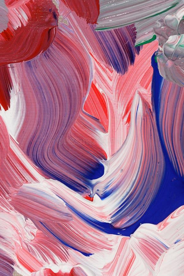 Abstrakcjonistyczny tło w farby muśnięcia uderzeniach obraz royalty free