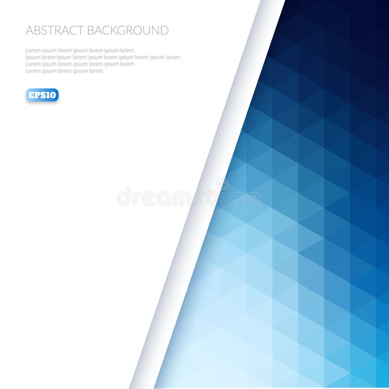 Abstrakcjonistyczny tło w isometric stylu Koloru gradient od trójboków ilustracja wektor