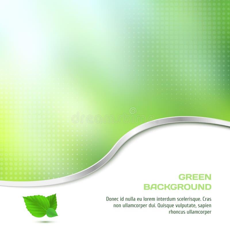 Abstrakcjonistyczny tło w zielonym kolorze z halftone ilustracji