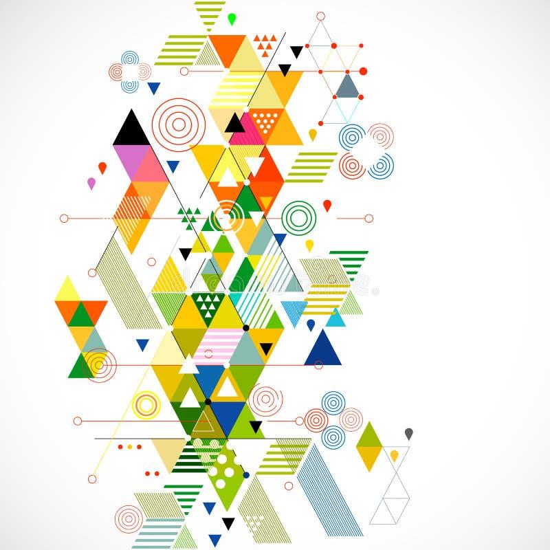 Abstrakcjonistyczny tło, wektor & ilustracja kolorowi i kreatywnie geometryczni, ilustracja wektor