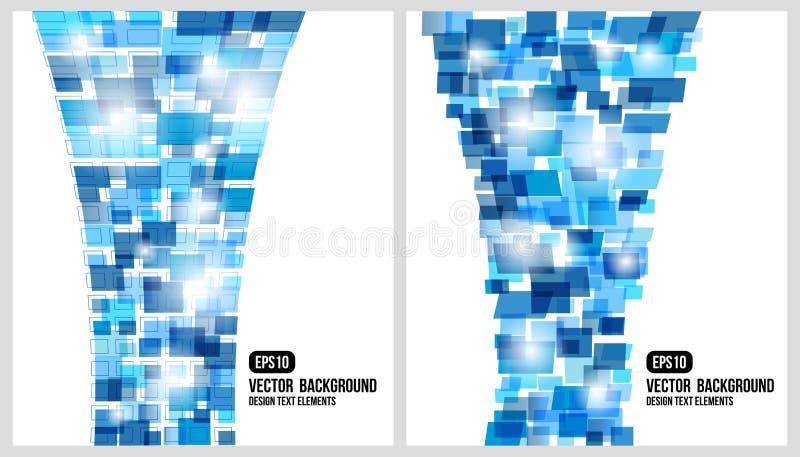 Abstrakcjonistyczny tło. Wektor rectangled projekt ilustracja wektor