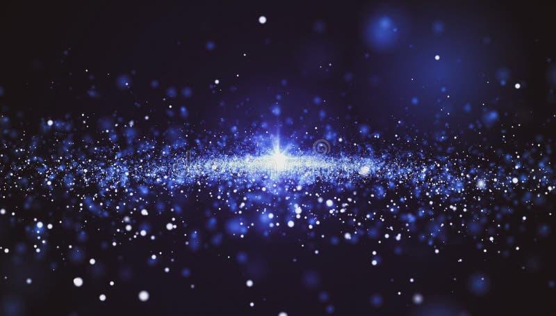 Abstrakcjonistyczny tło, wiele gwiazdy przestrzeń ilustracja wektor