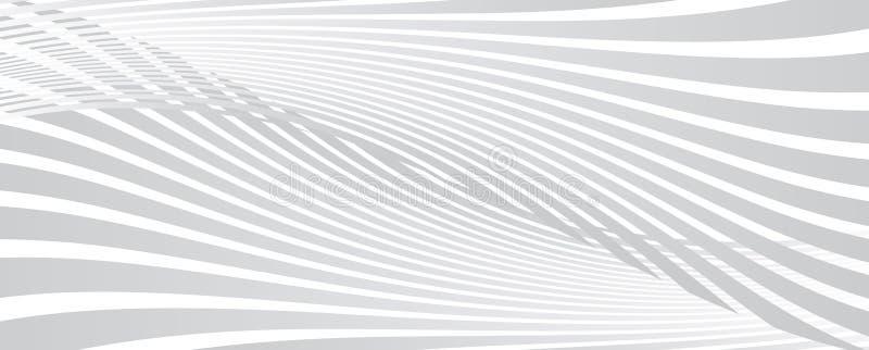 abstrakcjonistyczny tło wyginać się linie royalty ilustracja