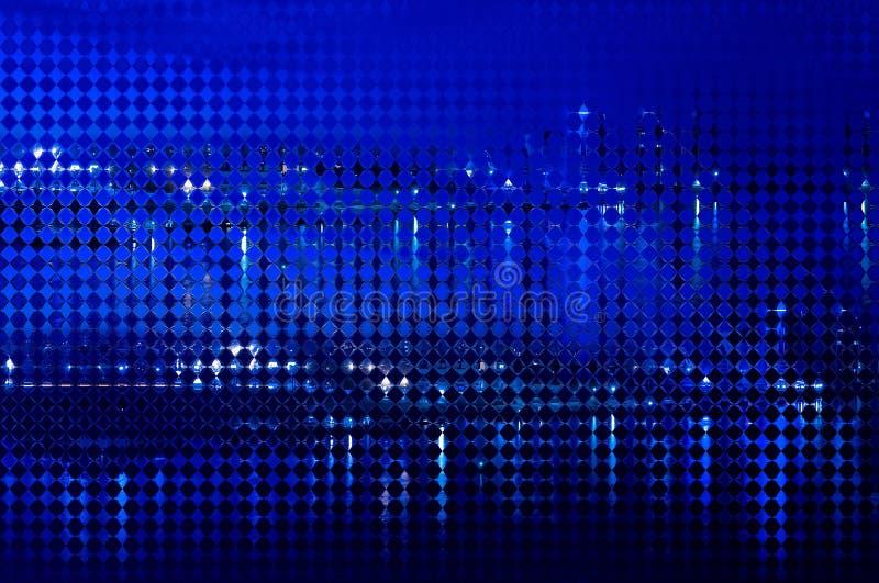 Abstrakcjonistyczny tło wygina się postacie błękitne zdjęcie royalty free
