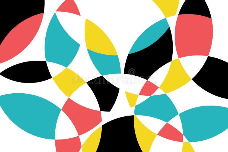 Abstrakcjonistyczny tło wzór robić z kółkowymi geometrycznymi kształtami ilustracji