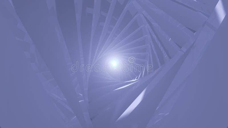 Abstrakcjonistyczny tło z ślimakowatym tunelem royalty ilustracja