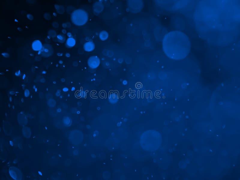 Abstrakcjonistyczny tło z bąbla bokeh w błękitnym kolorze zdjęcie royalty free