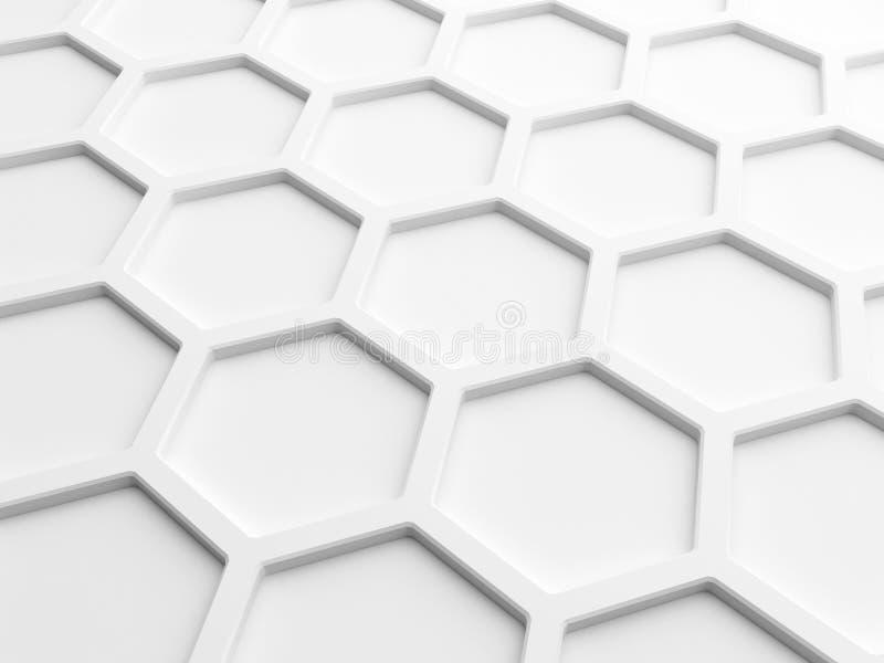 Abstrakcjonistyczny tło z białym honeycomb ilustracji