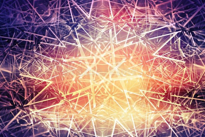 Abstrakcjonistyczny tło z cyfrowym poligonalnym wzorem ilustracji