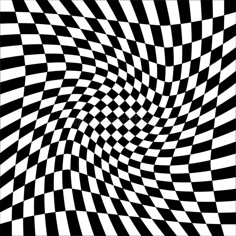 Abstrakcjonistyczny tło Z Czarny I Biały kwadratami raster ilustracji