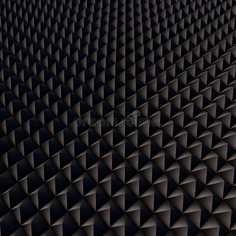 Abstrakcjonistyczny tło z czarnymi wielobokami obraz royalty free