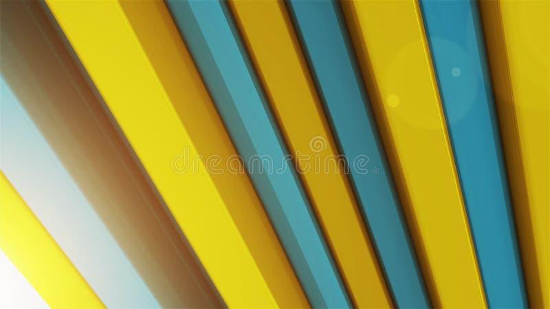 Abstrakcjonistyczny tło z 3d koloru barami ilustracja wektor