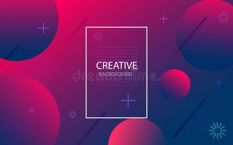 Abstrakcjonistyczny tło z geometrycznym gradientowym okręgiem Projekta abstrakta wzór z kolorów okręgami, kropki wektor ilustracji