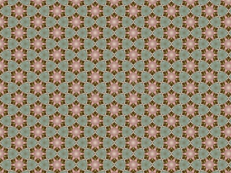 Abstrakcjonistyczny tło z geometrycznym wzorem stary podławy drzewo turkusowy kolor ilustracji