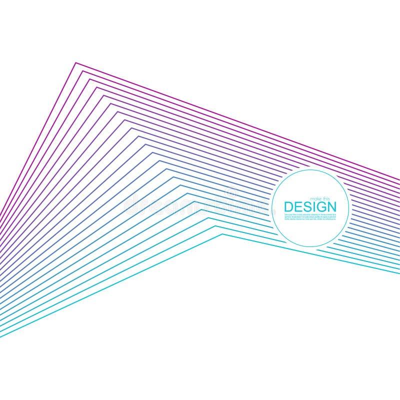 Abstrakcjonistyczny tło z gradientowymi kolor liniami ilustracja wektor