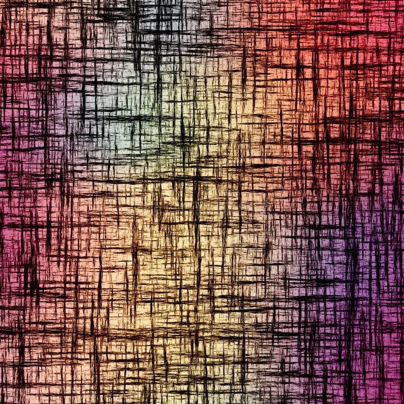 Abstrakcjonistyczny tło z grunge przecinał czarnych lampasy na kolorowym tle royalty ilustracja