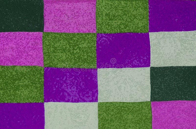 Abstrakcjonistyczny tło z kolorowym kwadrata wzorem ilustracja wektor
