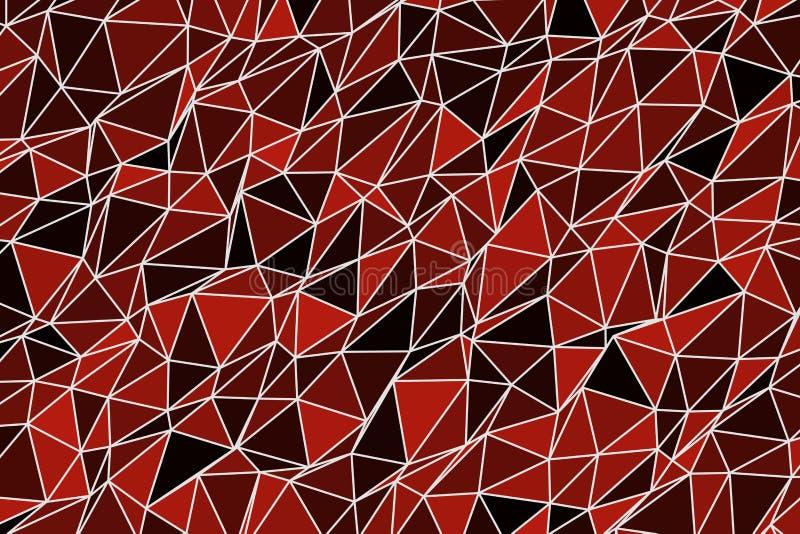 Abstrakcjonistyczny tło z kształtem trójboka paska wzór Pokrywa, pojęcie, sieć & sztuka, ilustracji