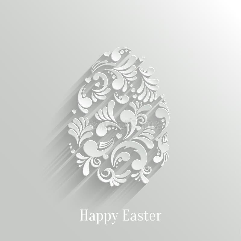 Abstrakcjonistyczny tło z Kwiecistym Wielkanocnym jajkiem royalty ilustracja