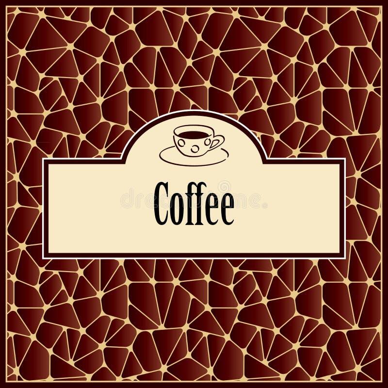 Abstrakcjonistyczny tło z projekta elementem - filiżanka kawy ilustracja wektor