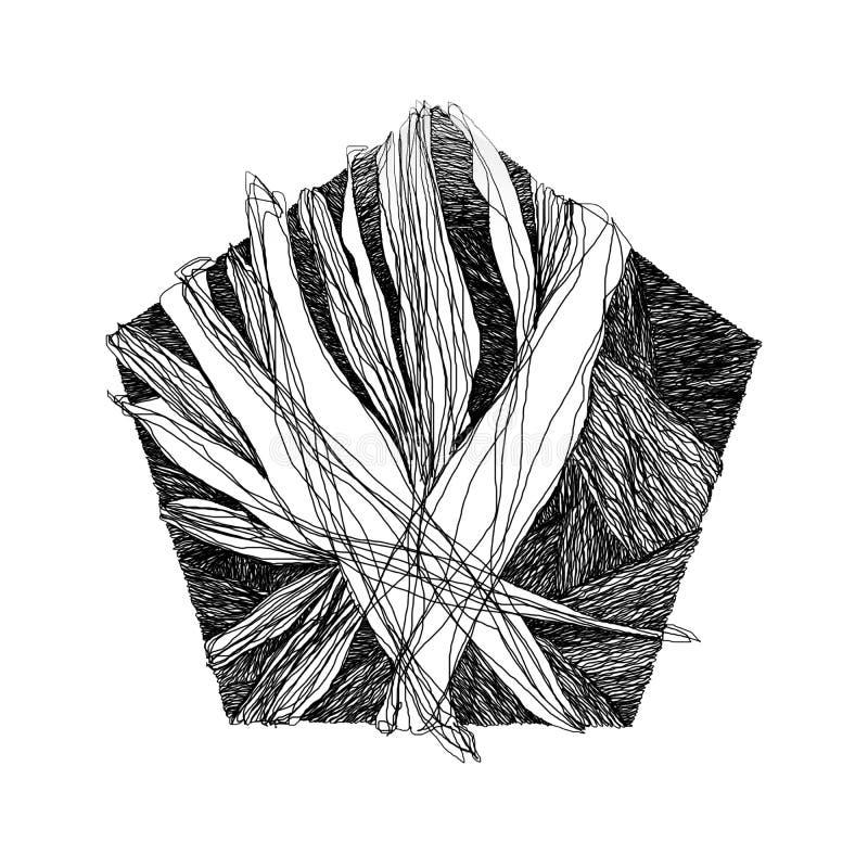 Abstrakcjonistyczny tło z przecinać geometrycznych kształty ilustracja wektor