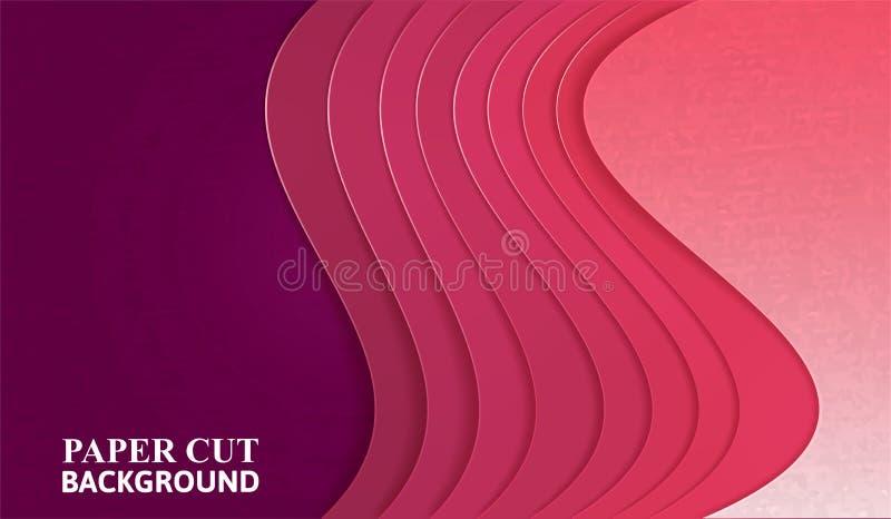 Abstrakcjonistyczny tło z purpurowymi narzut warstwami ilustracja wektor