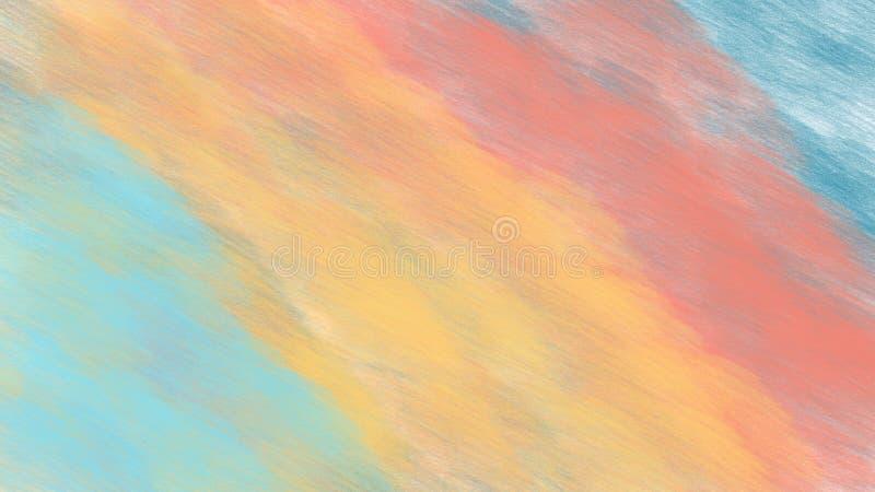 Abstrakcjonistyczny tło z różnorodnymi barwionymi ołówek liniami obraz stock