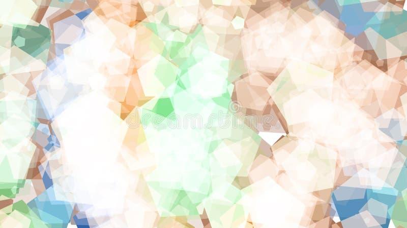 Abstrakcjonistyczny tło z różnorodnymi stubarwnymi pentagonami wielki mały royalty ilustracja