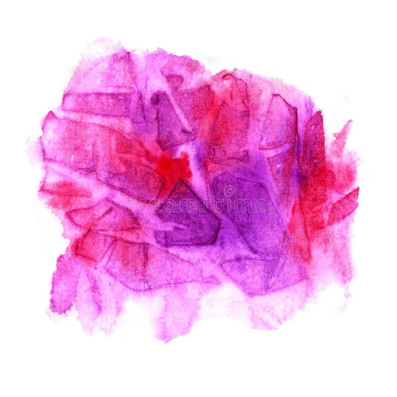 Abstrakcjonistyczny tło z różowym elementem akwarela ilustracji