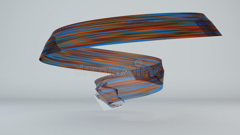 Abstrakcjonistyczny tło z szklanymi lampasami ilustracja wektor