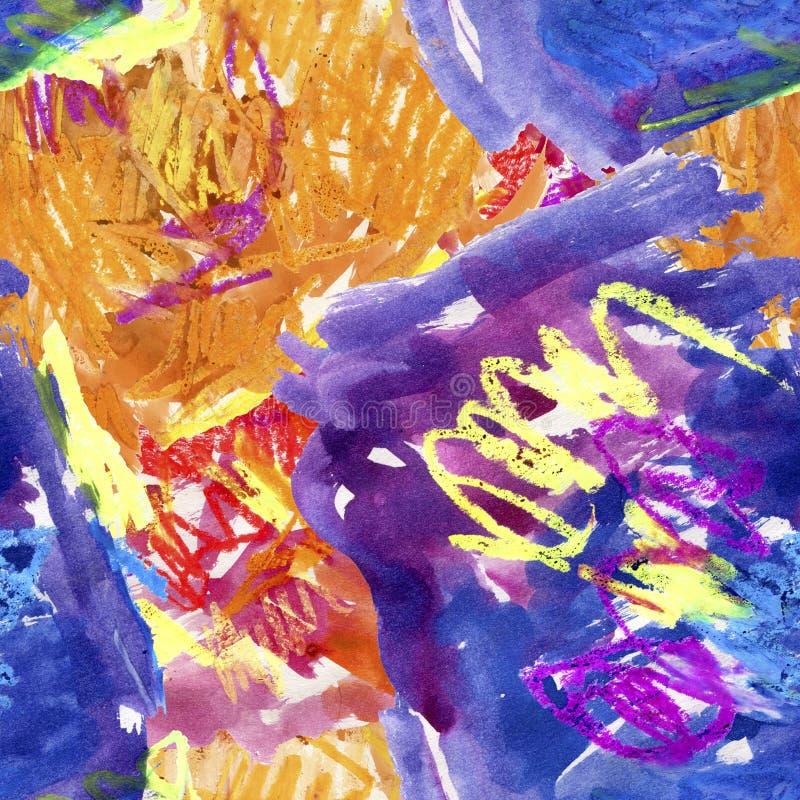 Abstrakcjonistyczny tło z uderzeniami i pluśnięciami ilustracja wektor