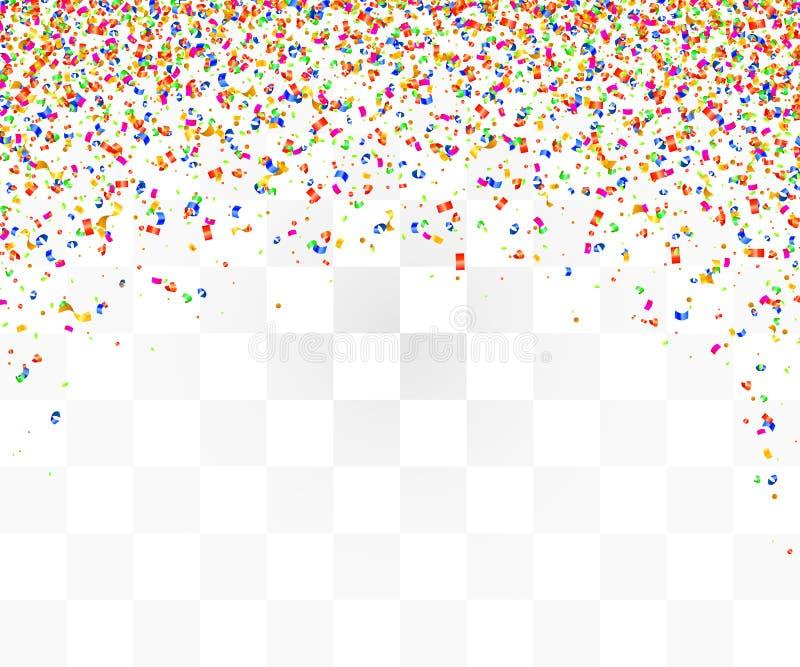 Abstrakcjonistyczny tło z wiele spada kolorowymi malutkimi confetti kawałkami ilustracja wektor
