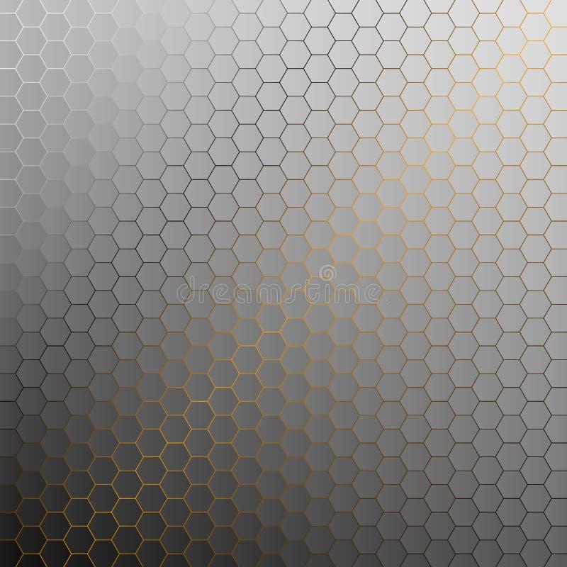 Abstrakcjonistyczny tło z złotym światłem ilustracja wektor