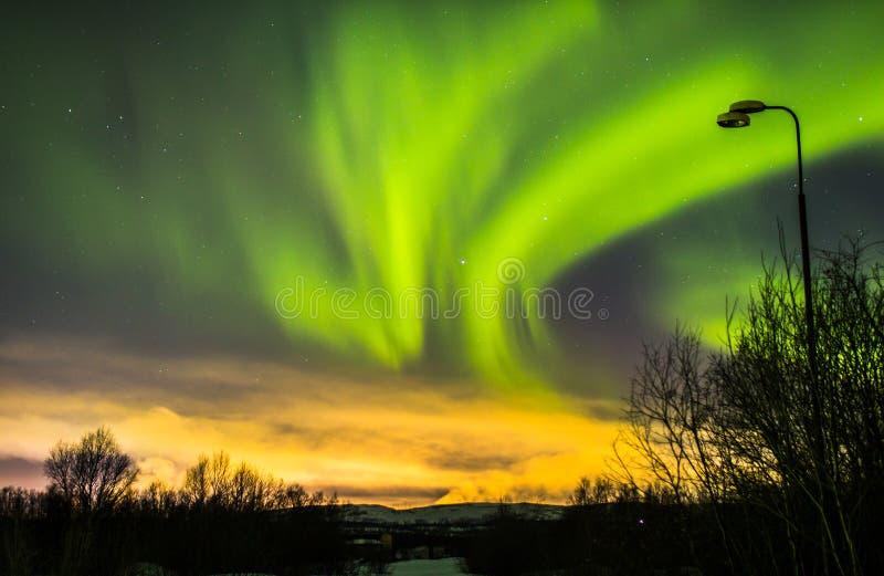 abstrakcjonistyczny tło zaświeca północnego wektor fotografia stock