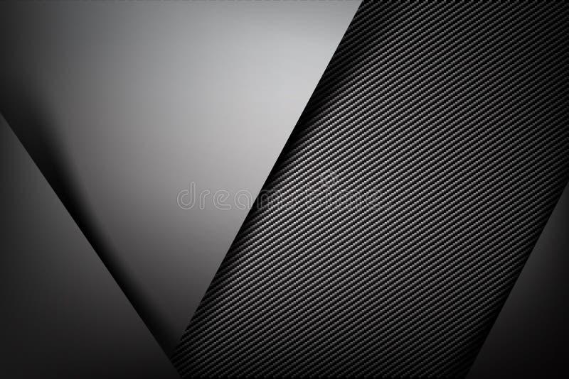 Abstrakcjonistyczny tło zmrok z węgla włókna tekstury wektoru illust ilustracja wektor