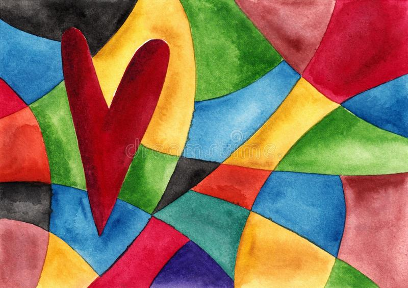 Download Abstrakcjonistyczny tło ilustracji. Obraz złożonej z kolor - 28385131