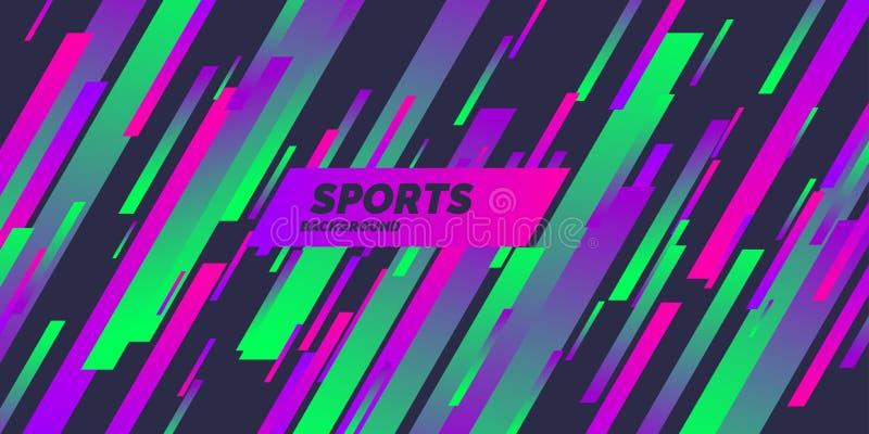 Abstrakcjonistyczny t?o z dynamicznymi kszta?tami Barwiony plakat dla sport?w r?wnie? zwr?ci? corel ilustracji wektora ilustracji