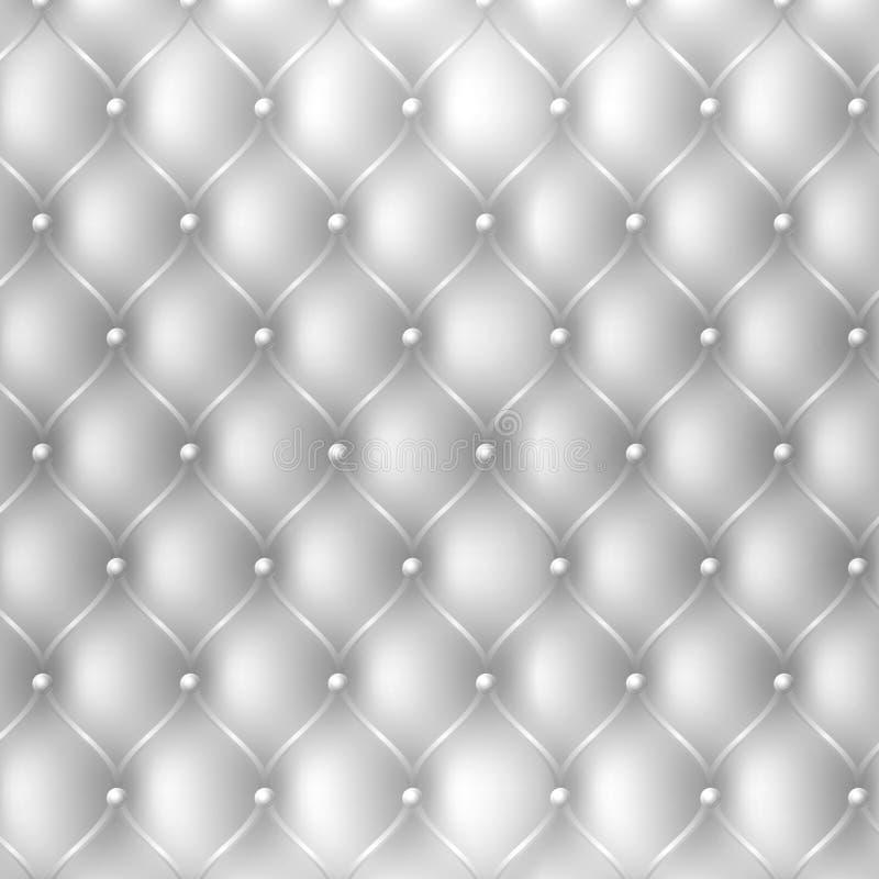 Abstrakcjonistyczny tapicerowanie tkaniny tekstury tło w białym kolorze royalty ilustracja