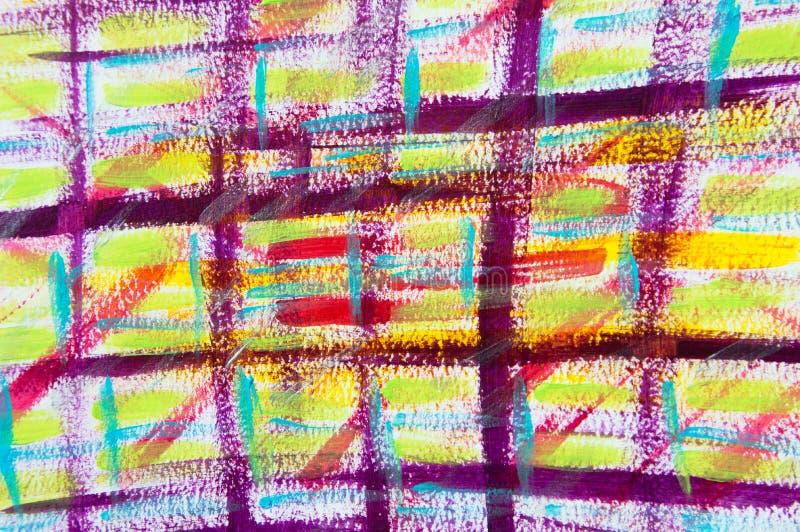 Abstrakcjonistyczny tartan w purpurach fotografia royalty free