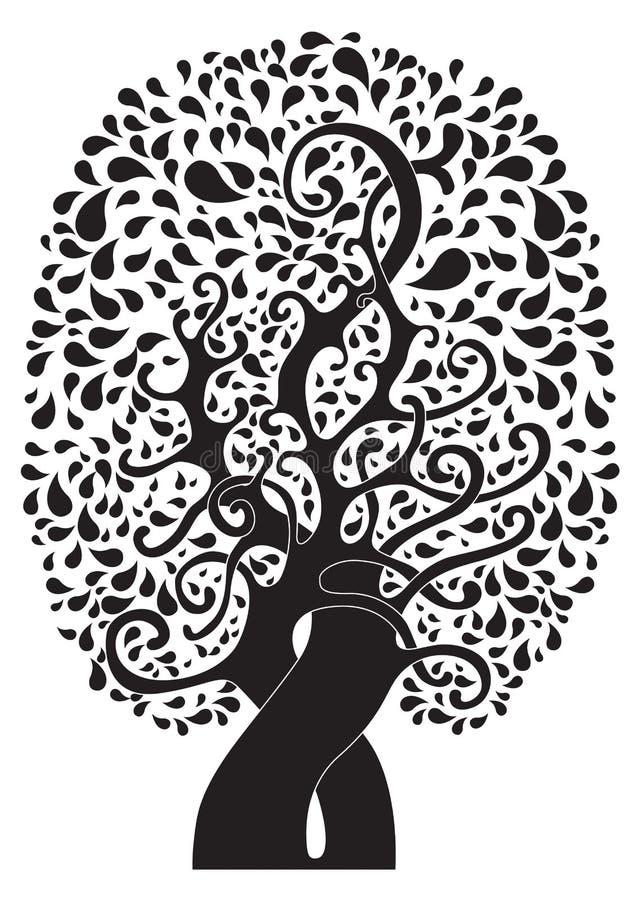 Abstrakcjonistyczny tatuażu drzewo obraz stock