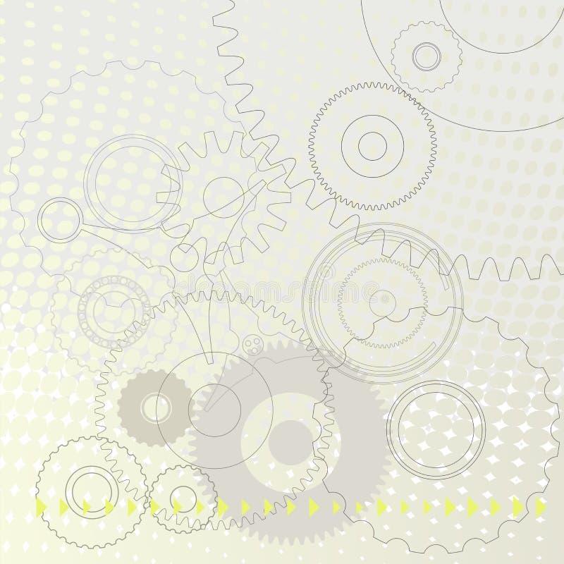 Abstrakcjonistyczny Techniczny tło - Wektorowa ilustracja royalty ilustracja