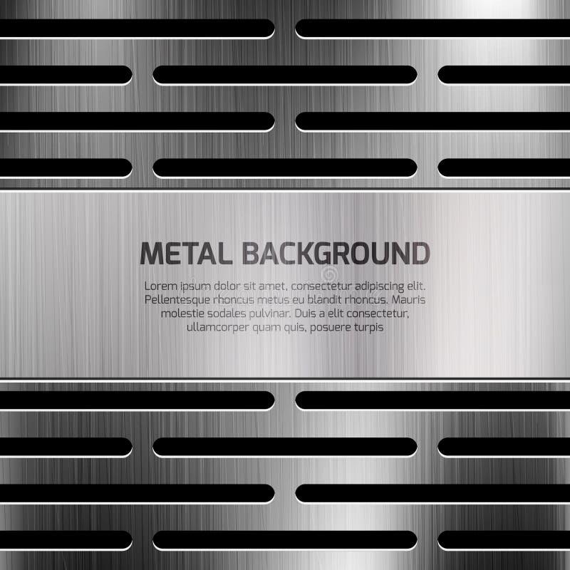 Abstrakcjonistyczny techno metalu wektoru tło royalty ilustracja