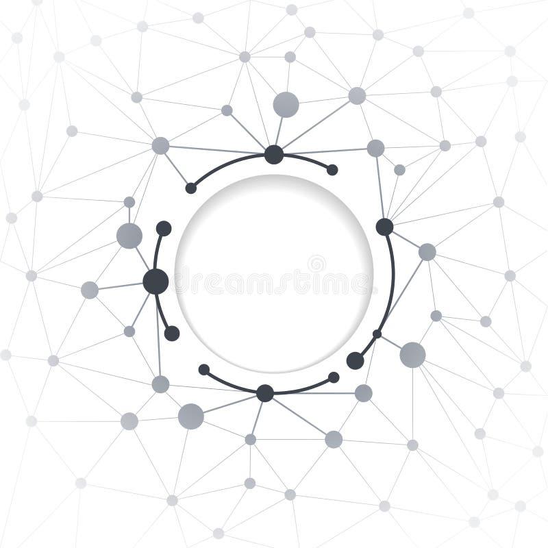 Abstrakcjonistyczny technologia związku tło ilustracja wektor