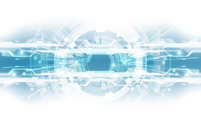 Abstrakcjonistyczny technologiczny tła pojęcie z różnorodnymi technicznymi elementami ilustracyjny wektor ilustracja wektor