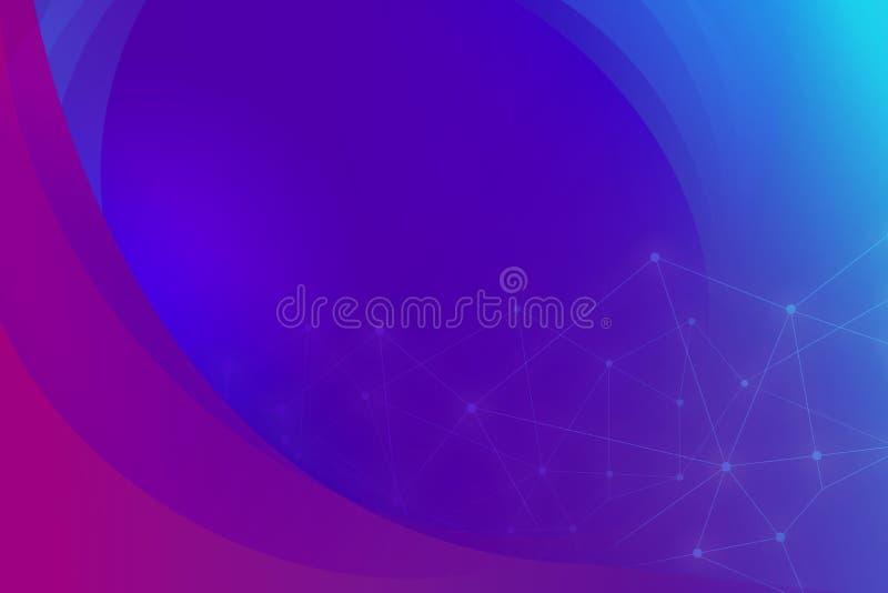 Abstrakcjonistyczny technologii cyfrowej tło z elektronicznymi elementami royalty ilustracja